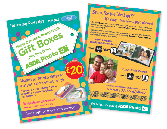 Asda Photo Gift Tin Leaflets