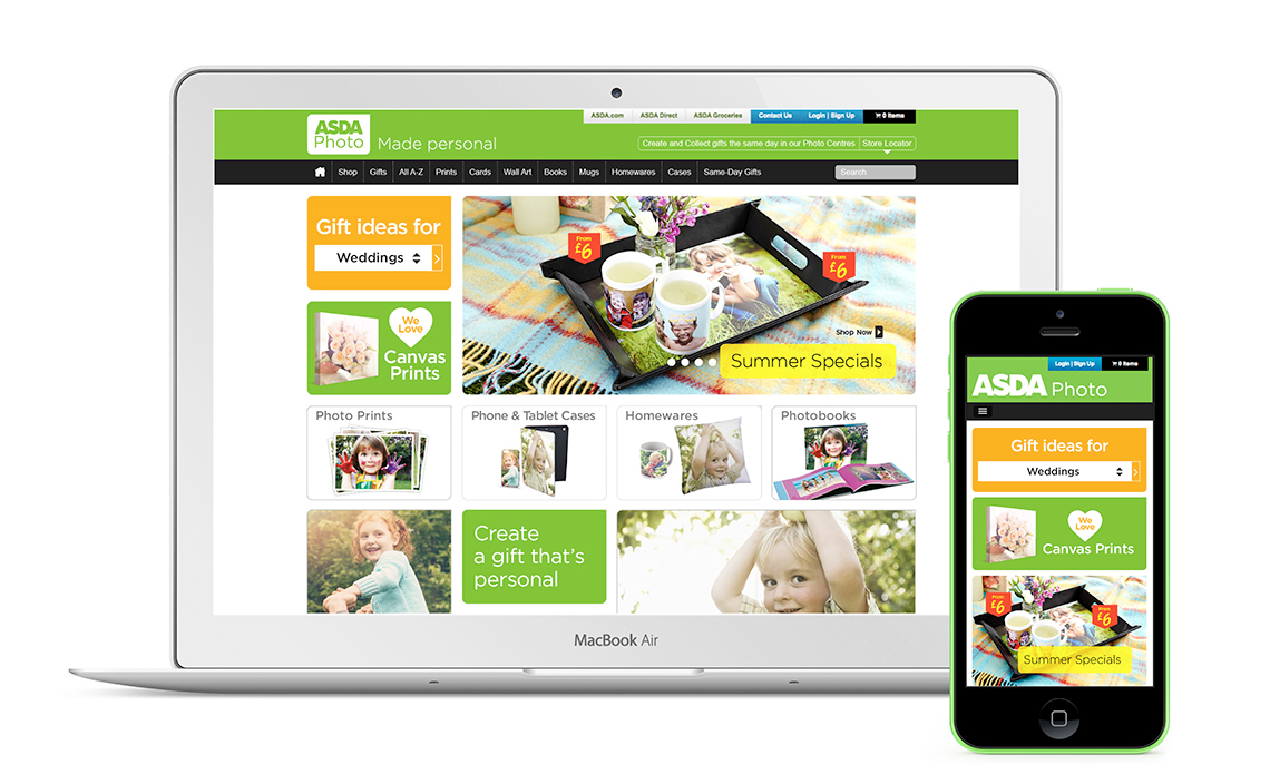 Asda Photo Website Design