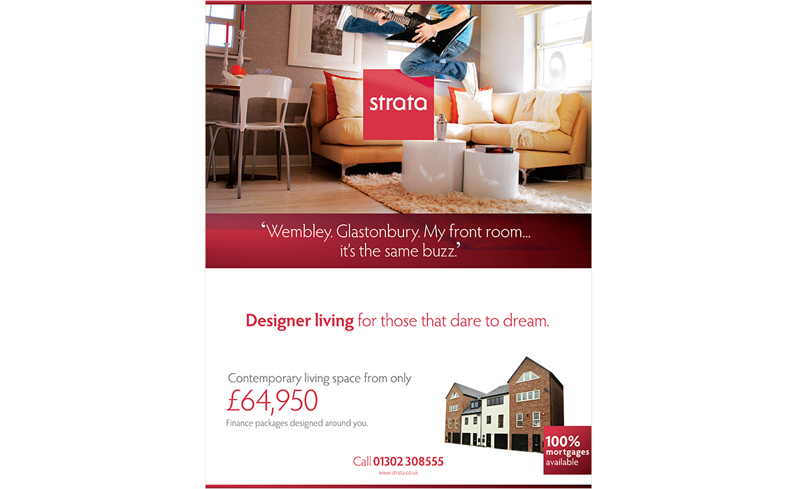 Strata Press advertising