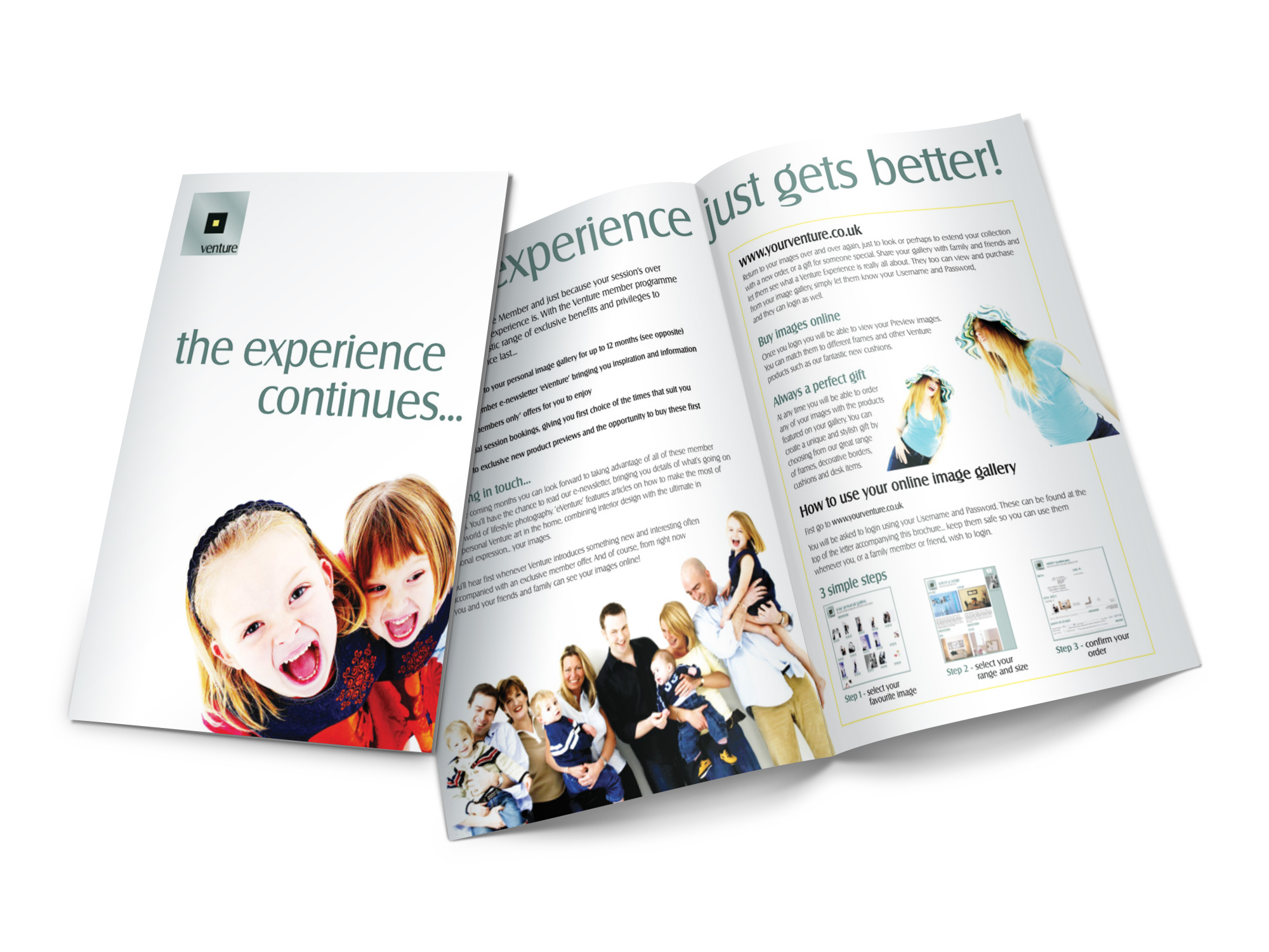 The experience continues leaflet